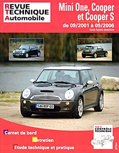Boek: Mini One, Cooper et Cooper S (R50 et R53) - tous types essence (9/2001-9/2006) - Revue Technique Automobile (RTA)