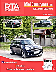 Boek: Mini Countryman (R60) - Cooper D 112 ch (08/2010-06/2014) - Revue Technique Automobile (RTA)