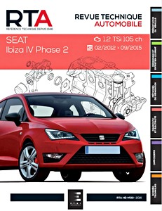 Boek: Seat Ibiza IV Phase 2 - 1.2 TSI (105 ch) (02/2012-09/2015) - Revue Technique Automobile (RTA)