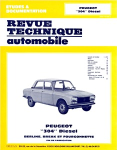 Boek: Peugeot 304 Diesel (1976-1980) - Revue Technique Automobile (RTA)