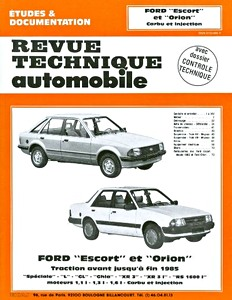 Boek: Ford Escort et Orion - essence (1980-1984) - Revue Technique Automobile (RTA)