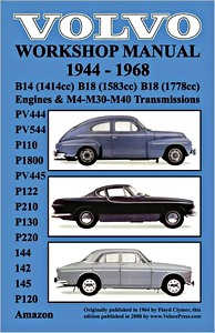 Boek: Volvo Workshop Manual (1944-1968) - PV444, PV544 (P110), P1800, PV445, P122 (P120 & Amazon) - Clymer Owner's Workshop Manual
