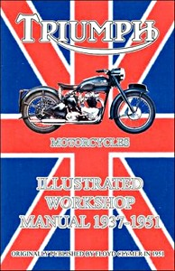 Livre : Triumph Motorcycles (1937-1951) - Illustrated Workshop Manual - Clymer Manual Reprint