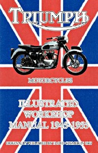 Livre : Triumph Motorcycles (1945-1955) - Illustrated Workshop Manual - Clymer Manual Reprint