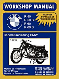 Livre : BMW R50, R50S, R60, R69S - Workshop Manual / Reparaturanleitung / Manuel de Réparation - Clymer Manual Reprint
