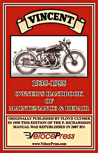 Livre : Vincent Owner's Handbook of Maintenance & Repair (1935-1955) - Clymer Manual Reprint