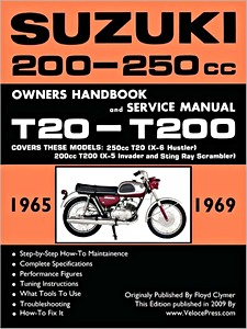 Livre : Suzuki T20 - T200 - 200 - 250 cc (1965-1969) - Owners Handbook and Service Manual - Clymer Manual Reprint