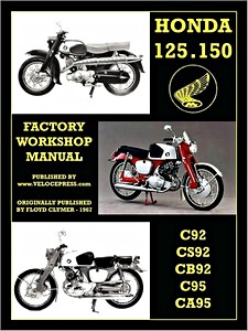 Livre : Honda 125 & 150 cc Twins - C92, CS92, CB92, C95, CA95 (1959-1966) - Factory Workshop Manual - Clymer Manual Reprint