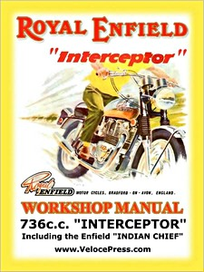 Livre : Royal Enfield 736 cc Interceptor / Enfield Indian Chief - Workshop Manual - Clymer Manual Reprint