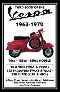 Buch: Third Book of the Vespa - 90, 125 & 150 cc Models (1963-1972) - Clymer Manual Reprint