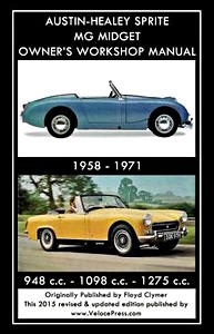 Boek: Austin-Healey Sprite / MG Midget - 948 cc, 1098 cc, 1275 cc (1958-1971) - Clymer Owner's Workshop Manual