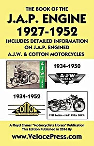 Boek : The Book of the J.A.P. Engine (1927-1952) - including information on J.A.P. engined AJW & Cotton motorcycles - Clymer Manual Reprint