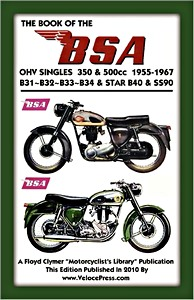 Livre : The Book of the BSA OHV Singles 350 & 500cc (1955-1967) - Clymer Manual Reprint