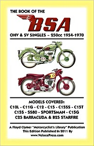 Livre : The Book of the BSA OHV & SV Singles - 250cc (1954-1970) - Clymer Manual Reprint