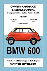 Boek: BMW 600 Limousine (1957-1959) Owners Manual & Service