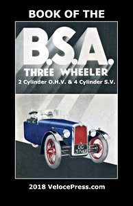 Boek: The Book of the BSA Three Wheeler - 2 Cylinder OHV & 4 Cylinder SV - Clymer Manual Reprint