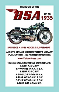 Livre : The Book of the BSA (up to 1935) - Includes a 1936 Models Supplement - Clymer Manual Reprint