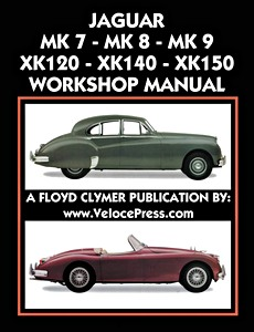 Boek: Jaguar Mk 7, Mk 8, Mk 9 / XK 120, XK 140, XK 150 (1948-1961) Workshop Manual - Clymer Owner's Workshop Manual