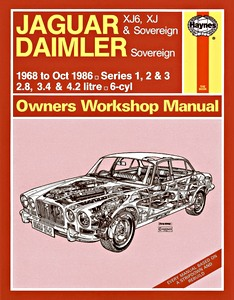 Boek: Daimler Sovereign / Jaguar XJ6, XJ & Sovereign (1968-Oct 1986) - Haynes Service and Repair Manual