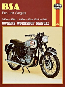 Livre : BSA Pre-unit Singles - 348 cc, 496 cc, 499 cc, 591 cc (1954-1961) - Haynes Owners Workshop Manual