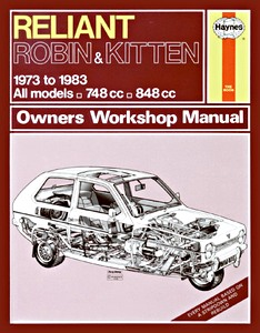 Boek: Reliant Robin & Kitten - All models (1973-1983) - Haynes Owners Workshop Manual