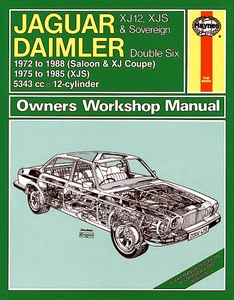 Boek: Daimler Double Six / Jaguar XJ12, XJS & Sovereign (1972-1988) - Haynes Service and Repair Manual