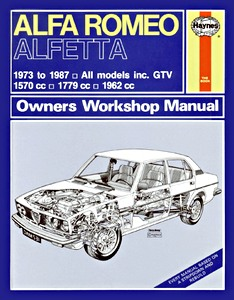 Boek: Alfa Romeo Alfetta Saloon / Coupe / GTV (1973-1987) - Haynes Owners Workshop Manual