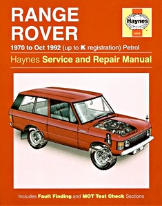 Livre : Range Rover V8 - Petrol (1970 - Oct 1992) - Haynes Service and Repair Manual