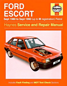Boek: Ford Escort - Petrol (Sept 1980 - Sept 1990) - Haynes Service and Repair Manual
