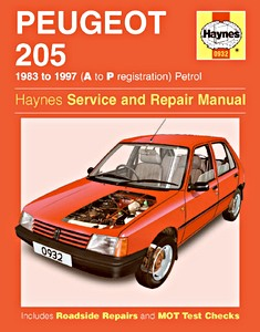 Boek: Peugeot 205 - Petrol (1983-1997) - Haynes Service and Repair Manual