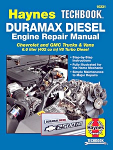 Livre : GM 6.6 L Duramax Diesel Engine (2001-2019) - Repair Manual - Haynes TechBook