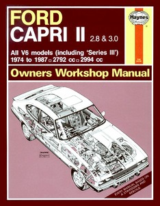Boek: Ford Capri II (& III) 2.8 & 3.0 - all V6 models (1974-1987) - Haynes Service and Repair Manual