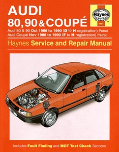 Boek: Audi 80 & 90 - Petrol (Oct 1986-1990) / Coupé - Petrol (Nov 1988-1990) - Haynes Service and Repair Manual