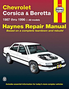 Boek: Chevrolet Corsica & Beretta - All models (1987-1996) - Haynes Repair Manual