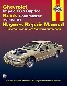 Boek: Chevrolet Impala SS & Caprice / Buick Roadmaster - V8 engines (1991-1996) - Haynes Repair Manual