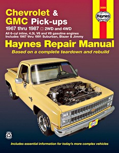 Livre : Chevrolet / GMC Pick-ups (1967-1987) - including Suburban, Blazer & Jimmy (1967-1991) - Haynes Repair Manual