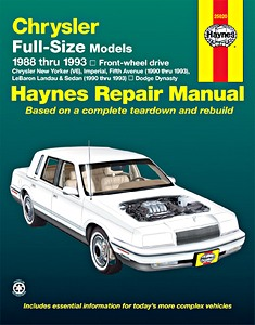 Boek: Chrysler / Dodge Full-Size Models - Front-wheel drive (1988-1993) - Haynes Repair Manual