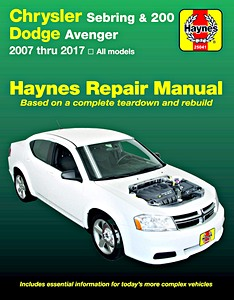 Boek: Chrysler Sebring, 200 / Dodge Avenger (2007-2017) - Haynes Repair Manual