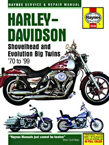 Livre : Harley-Davidson Shovelhead and Evolution Big Twins (1970-1999) - Haynes Service and Repair Manual