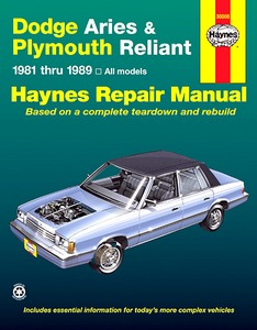 Boek: Dodge Aries / Plymouth Reliant (1981-1989) - Haynes Repair Manual