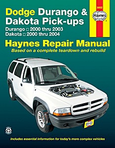 Livre : Dodge Durango (2000-2003) & Dakota Pick-ups (2000-2004) - Haynes Repair Manual