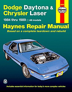 Boek: Chrysler Laser / Dodge Daytona - All models (1984-1989) - Haynes Repair Manual