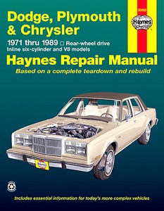 Boek: Chrysler / Dodge / Plymouth Rear-wheel drive - Inline six-cylinder and V8 models (1971-1989) - Haynes Repair Manual