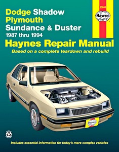 Boek: Dodge Shadow / Plymouth Sundance and Duster (1987-1994) - Haynes Repair Manual
