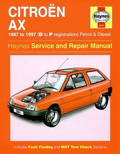 Boek: Citroën AX - Petrol & Diesel (1987-1997) - Haynes Service and Repair Manual