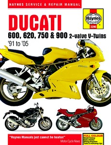 Livre : Ducati 600, 620, 750 & 900 2-valve V-Twins (1991-2005) - Haynes Service and Repair Manual