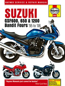Livre : Suzuki GSF 600, GSF 650 & GSF 1200 Bandit Fours (1995-2006) - Haynes Service and Repair Manual