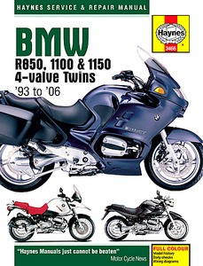 Livre : BMW R 850, R 1100 & R 1150 4-valve Twins (1993-2006) - Haynes Service and Repair Manual