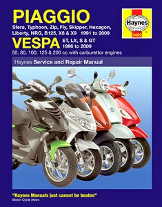 Buch: Piaggio & Vespa Scooters (1991-2009) - 50, 80, 100, 125 & 200 cc carburettor engines - Haynes Owners Workshop Manual
