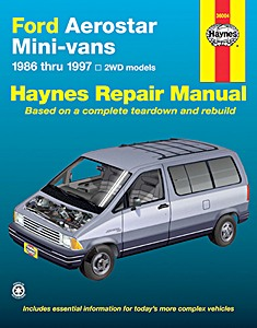 Boek: Ford Aerostar Mini-vans - 2WD models (1986-1997) - Haynes Repair Manual